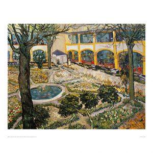 VAN051 Garden of Hospital in Arles