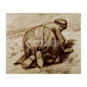 VAN066 Kneeling Peasant Woman