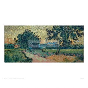 VAN072 Landscape with the Chateau of Auvers at Sunset