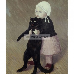 STE003 Small Girl with Cat, 1889