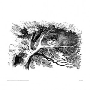 TEN031 The Cheshire Cat in a Tree (B&W)