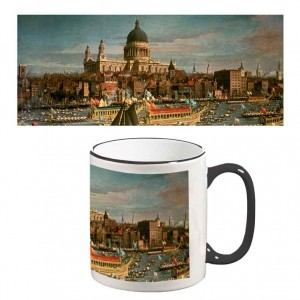 Two-Tone Mug: London Thames St Pauls Catherdral