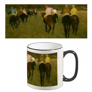 Two-Tone Mug: Horserace in Longchamp