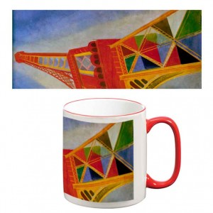 Two-Tone Mug: Eiffel Tower