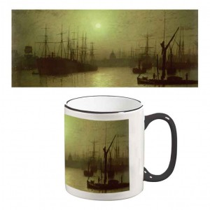 Two-Tone Mug: Nightfall Down The Thames