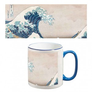 Two-Tone Mug: The Great Wave of Kanagawa