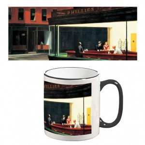 Two-Tone Mug: Nighthawks