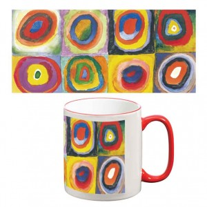 Two-Tone Mug: Colour Study with Concentric Circles