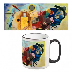Two-Tone Mug: Yellow, Red, Blue