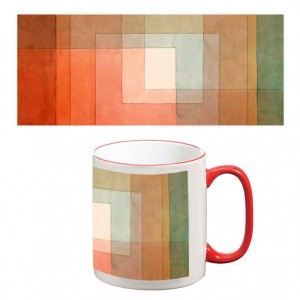 Two-Tone Mug: White Framed Polyphonically