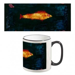 Two-Tone Mug: Golden Fish
