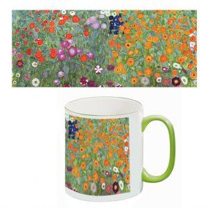 Two-Tone Mug: Flower Garden