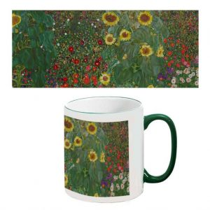 Two-Tone Mug: Garden with Sunflowers