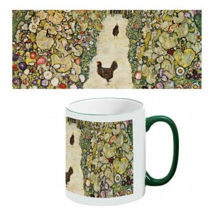 Two-Tone Mug: Garden Path with Chickens