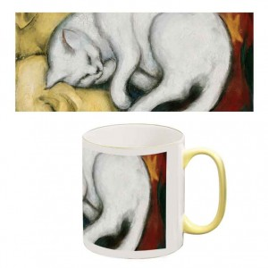 Two-Tone Mug: The White Cat