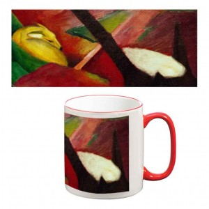 Two-Tone Mug: Deer in the Forest 11, 1914