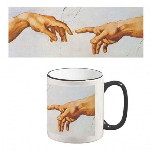 Two-Tone Mug: Creation of Adam (Detail)