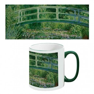Two-Tone Mug: Waterlily Pond