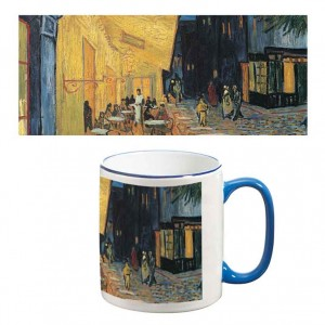 Two-Tone Mug: Cafe Terrace at Night