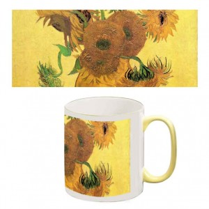 Two-Tone Mug: Sunflowers