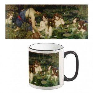 Two-Tone Mug: Hylas and the Nymphs