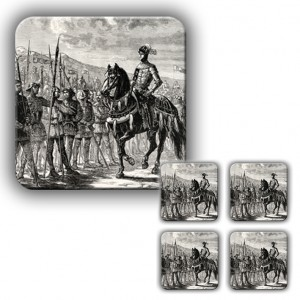 Coaster Set: The Battle of Agincourt (Engraving)