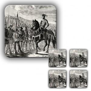 Coaster Set: The Battle of Agincourt (Engraving)