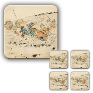 Coaster Set: The Battle of Agincourt, Illustration
