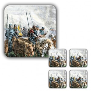 Coaster Set: The Start of the Battle (Woodcut)