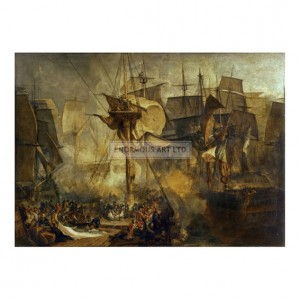 TUR078 Battle of Trafalgar, seen from the Victory, 1806