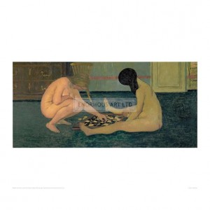 VAL043 Nude Women Playing at Draughts, 1897