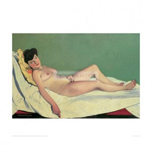 VAL055 Reclining Nude on Yellow Cushion, 1904