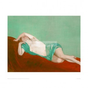 VAL058 Reclining Nude With Green Silk Scarf, 1914