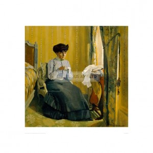 VAL002 A Woman Sewing, 1905