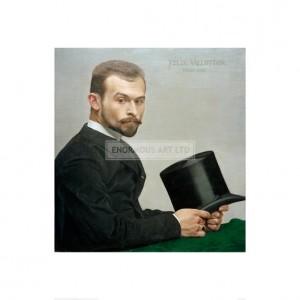 VAL014 Felix Jasinki Holding his Hat, 1887