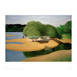 VAL063 Sandbanks on the Loire, 1923