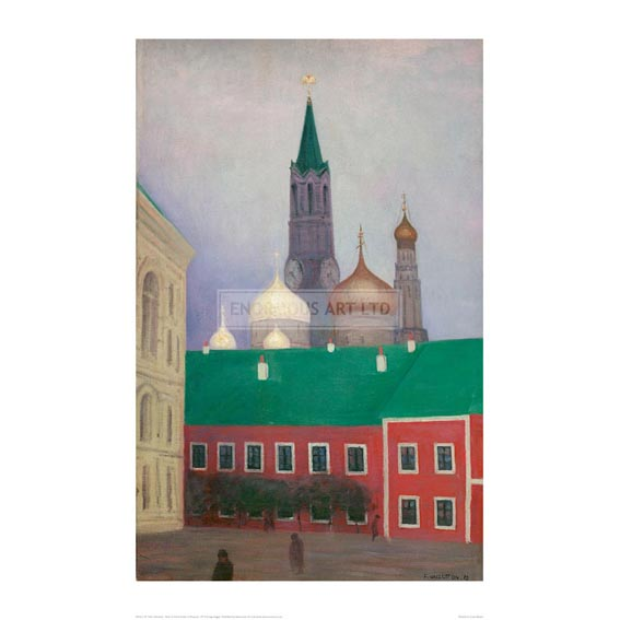 VAL119 View of the Cremlin in Moscow, 1913 - Enormous Art