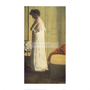 VAL121 Woman Removing her Petticoat, 1900