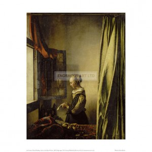 VER014 Woman Reading a Letter at an Open Window