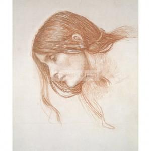WAT019 Study of a Girl's Head
