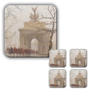Coaster Set: Wellington Arch, with Household Cavalry