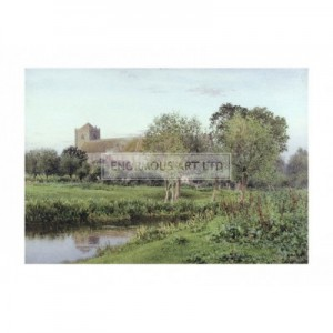 BEN001 Dorchester Abbey, Wallingford, Autumn