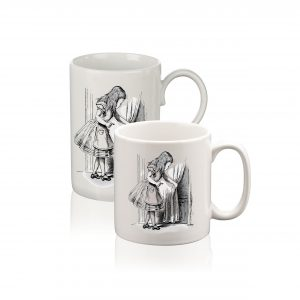 Mug: Alice Tries the Golden Key (Black & White)